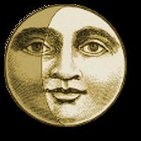 —Waxing gibbous moon face